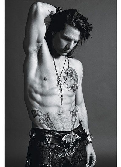 Tom Cruise as StaceeJaxx photographed by Mario Sorrenti for W Magazine's #RockOfAges cover story.