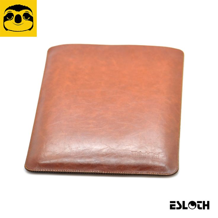 ==> [Free Shipping] Buy Best ESLOTH Crack Dark Brown For Lenovo ThinkPad X1 Carbon PU Leather Cases Into Sets of Bladder Mac Bag Ultra Thin Light Laptop Bags Online with LOWEST Price | 32787173807