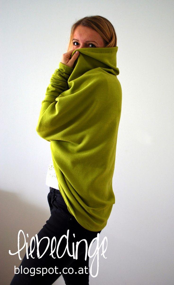 Kuschel-Cardigan aus großem Stück Stoff (140x100 cm)