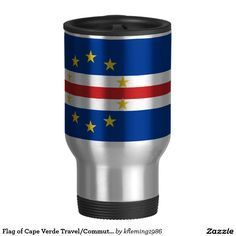 Flag of Cape Verde Travel/Commuter Mug