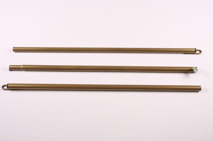 Adjustable ridge pole 22/19 mm, 3 parts 145-210 cm