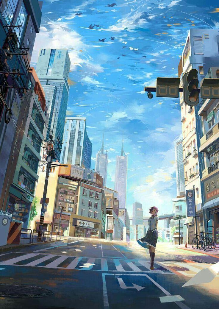 Learn To Draw Manga Anime Scenery Anime City Scenery