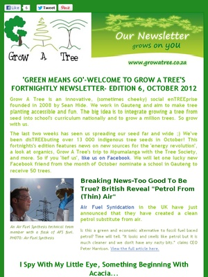 """Edition 6- """"Green Means Go""""- October 2012"""