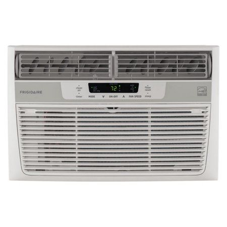 Frigidaire FFRE0833S1 8,000 BTU 115V Window-Mounted Mini-Compact Air Conditioner with Temperature-Sensing Remote Control, White
