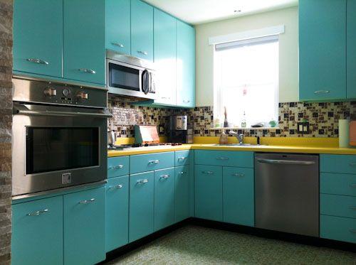 steel kitchen cabinets. Ann recreates the look of vintage metal kitchen cabinets  in wood Best 25 Metal ideas on Pinterest