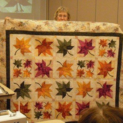 Quilt in a Day - Eleanor Burn's leaf quilt