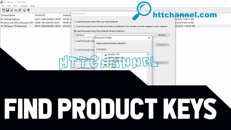 How to find product key for windows 7810 any software on