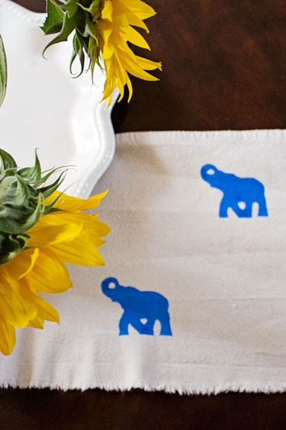 Instead of trying to find the pattern you want, make it with Tulip's Fabric Paint and a stencil of your choice!