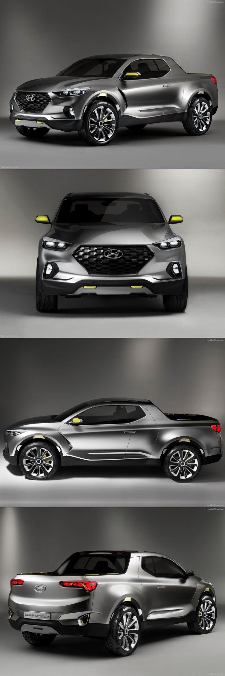 Hyundai Santa Cruz Pickup Truck, Detroit Auto Show, 2015