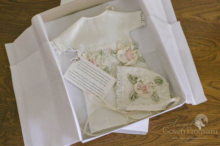 The small gowns are intricate and beautifully crafted — the program strives to create garments worthy of the treasured infants who don them.