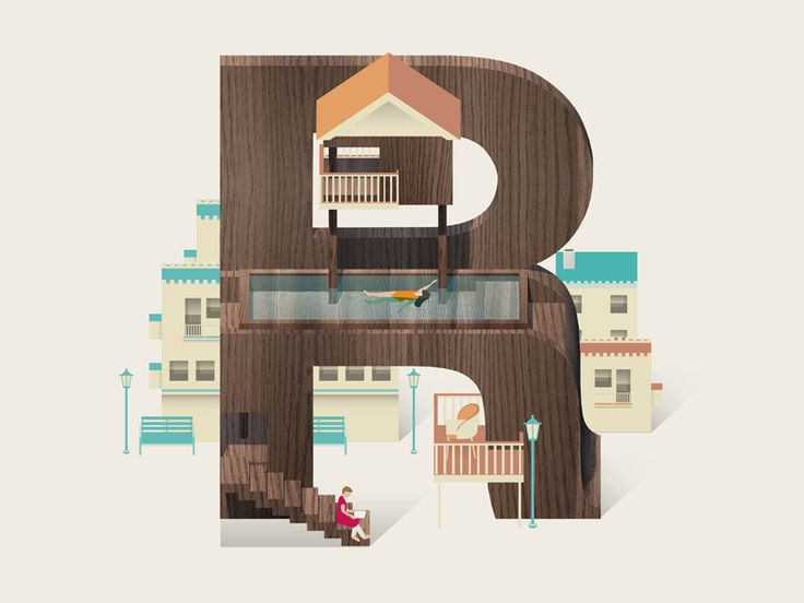 letter R by Jing Zhang