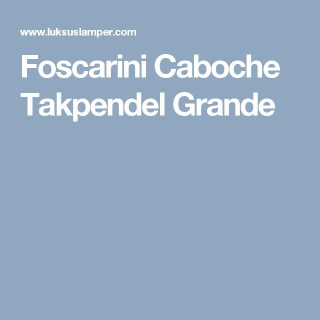 Foscarini Caboche Takpendel Grande