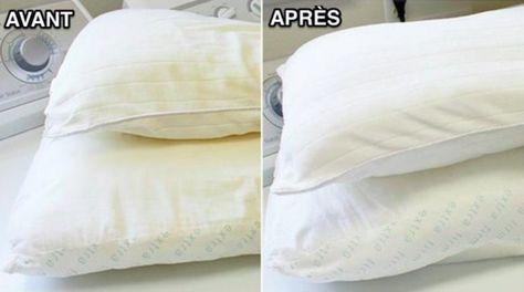 Comment blanchir un oreiller qui a jauni