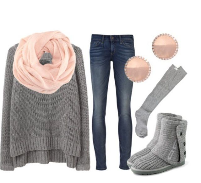 Love pink and grey together!