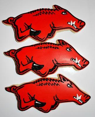 Arkansas Razorback Cookies!