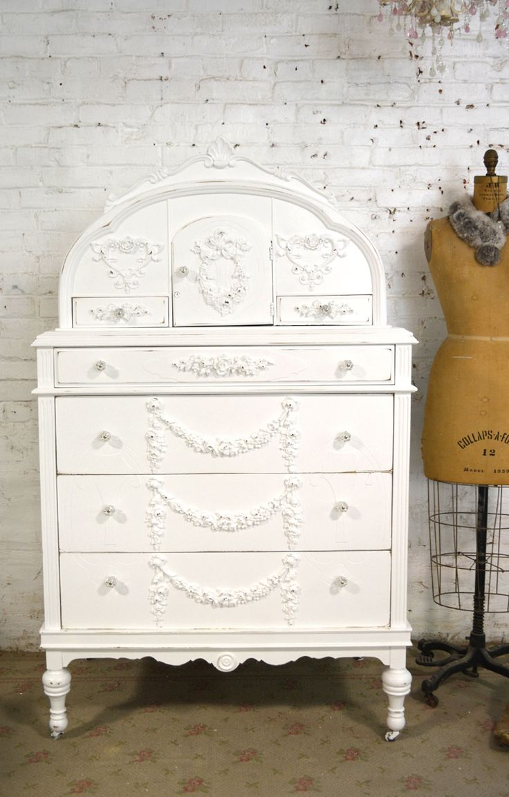Shabby chic painted furniture - Painted Cottage Chic Shabby French Dresser Chest Ch892