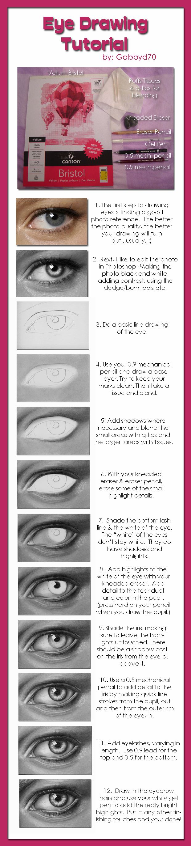 Eye Drawing Tutorial by *gabbyd70