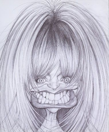 Goldie Hawn Caricature    Words cannot describe how talented Sebastian Kruger is at drawing caricatures