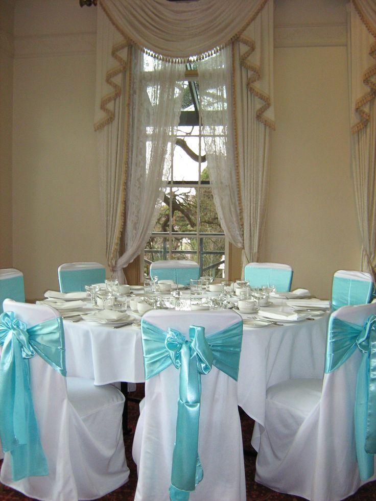 Tiffany Blue reception setup