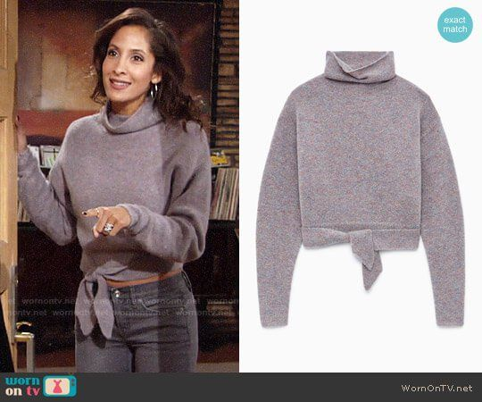 Wilfred Lorin Sweater worn by Christel Khalil on The Young & the Restless