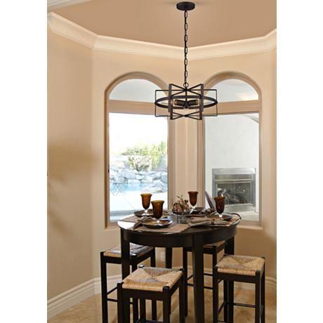 "Varaluz Reel 16 1/2"" Wide Rustic Bronze Pendant Light - #9R819 | Lamps Plus"