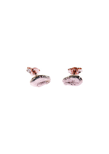 Lucy Folk presents TROPICALISMO - NH & SH: Spring/Summer 13 - WATERMELON PIP STUD EARRINGS (ROSE GOLD PLATE)