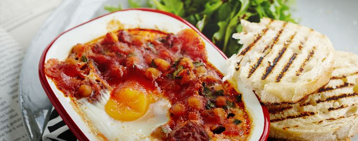 Start your morning with a bang. Try our Spanish style Baked Eggs!