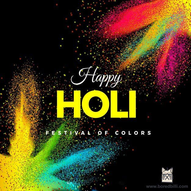 Happy Holi Wishes & Backgrounds Free Vector Download. #happy_holi #backgrounds #wishes #vector