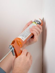 caulking....a drywall cheat from The Family Handyman