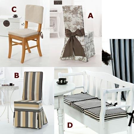 Burda complementos: fundas para sillas BU7899
