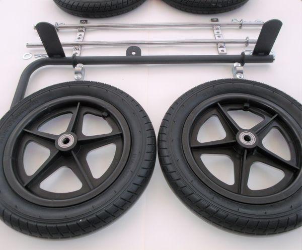 Dual Hand Brake Wheel & Axle Set | Wooden Go Kart Shop