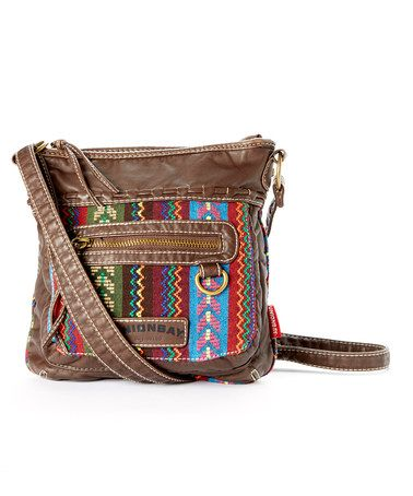 Another great find on #zulily! Brown & Red Tribal Chevron Crossbody Bag by UNIONBAY #zulilyfinds