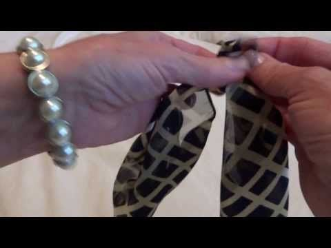 How to Turn a Scarf Into a Necklace - YouTube