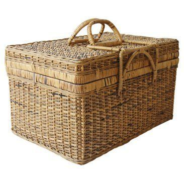 Check out this item at One Kings Lane! Asian Bamboo Picnic Basket