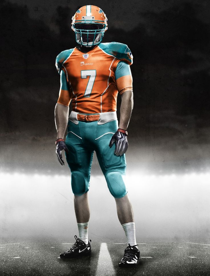 Dolphin Miami New NFL Uniforms   New Nike NFL Uniforms - Vapor Jet Gloves and Cleats - Gamedayr ...