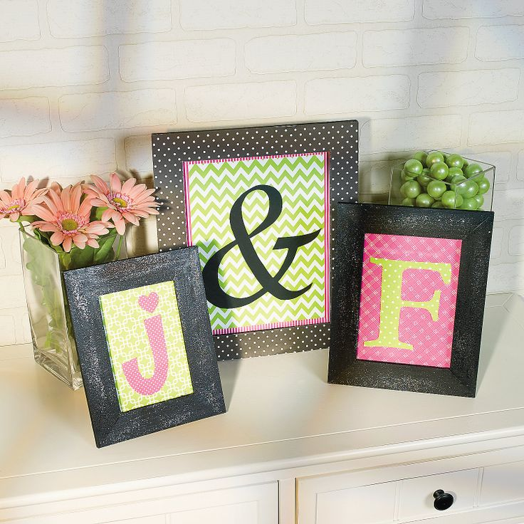 craft ideas homemade bridal shower decoration%0A Easytocreate DIY Monogram Frames neat idea