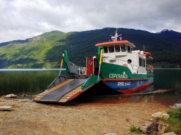 Lago Espolon ferry boat | from Cliff's Travel Blog: The Heart of Patagonia http://gettinmyexploreon.blogspot.com/2014/01/at-last-patagonia.html