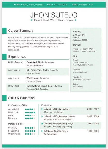 36 best Simple Resume Template images on Pinterest Free resume - adobe indesign resume template
