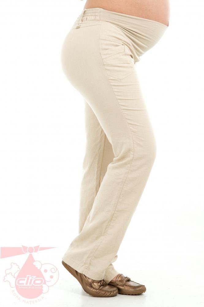 Los #pantalones #maternos en lino con silueta amplia y sistema de fajón elástico son muy cómodos y frescos para el embarazo. Además, su diseño elegante lo hace apropiado para ser usado al momento de vestirte para ir a la #oficina. Porque la #ropa #materna también puede ser elegante, cómoda y a la vez #moderna.