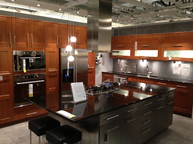 Kitchen Island with Bar Stools