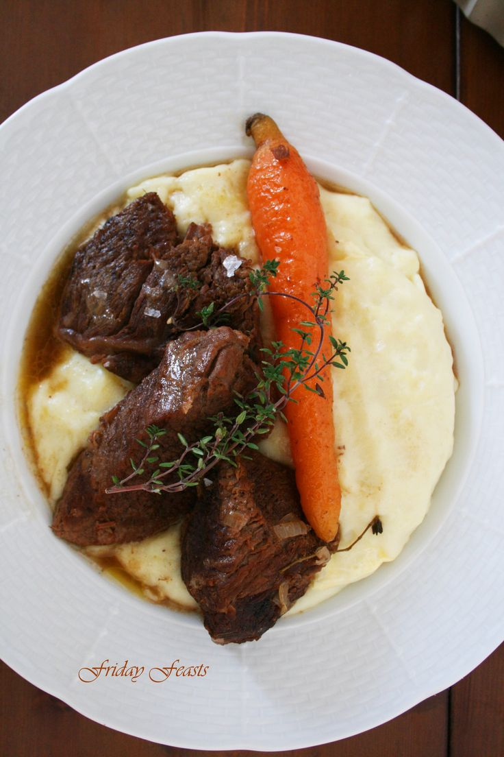 Beef Stew with Balsamic Cream & Garlic Mashed Potatoes Recipe  http://2via.me/KmCPL9pD11