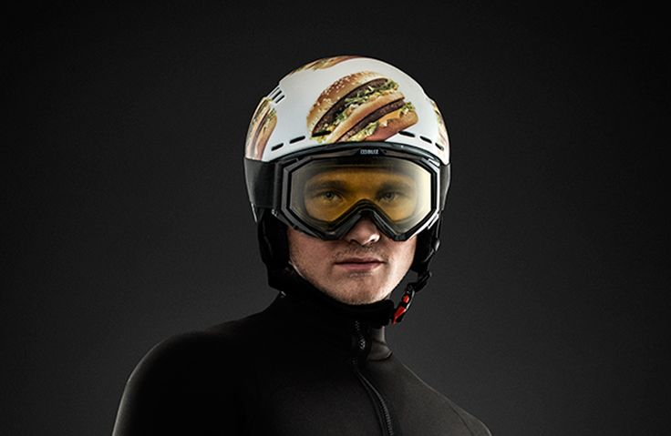 Big Mac Ski Helmet via Big Mac Shop. Click on the image to see more!