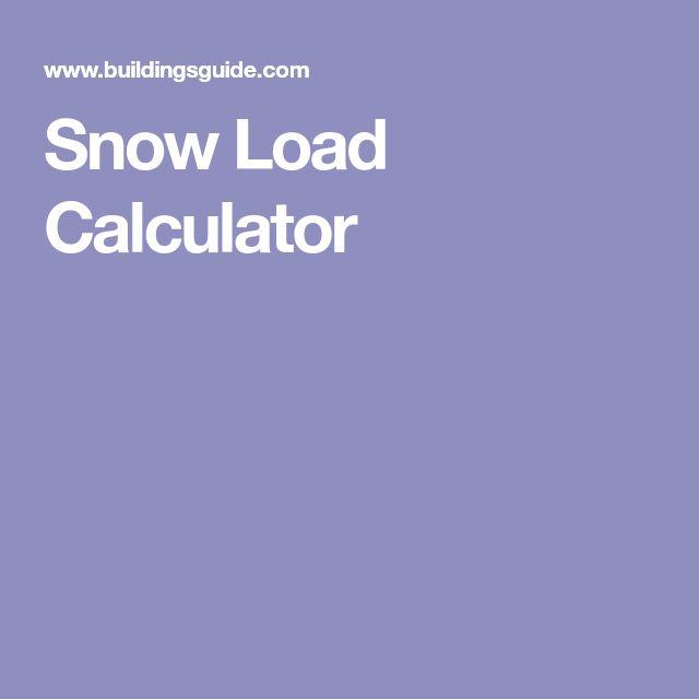 Snow Load Calculator