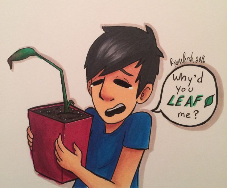 "ryanperch-art: "" The end of Mr. House Plant  Also plant puns omg """