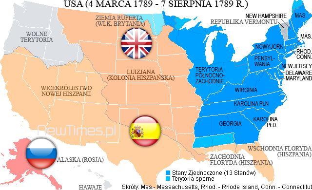 United States 1789: http://newtimes.pl/george-washington-zalozyciel-i-pierwszy-prezydent-usa/