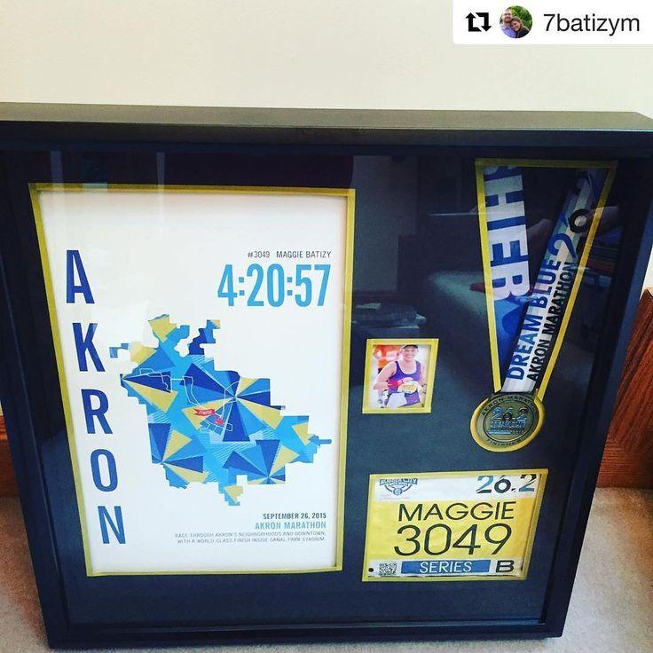 Akron Marathoner Map gift for runner