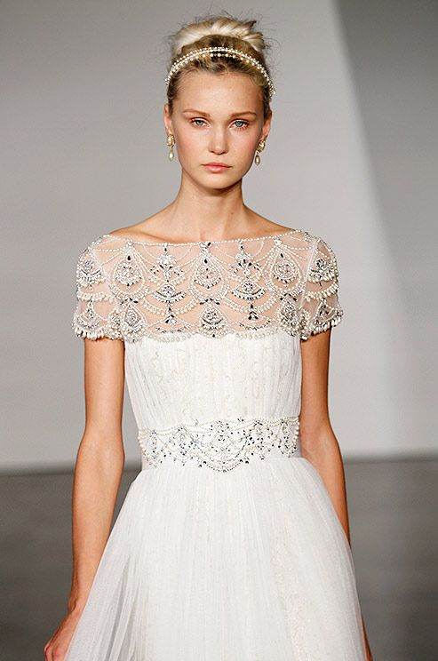 Beaded wedding dress from Marchesa, Fall 2013