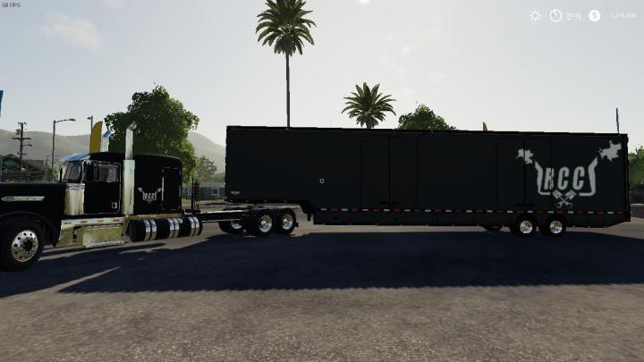 Fs19 Rcc Truck And Trailer Pack V1 Download Truck And Trailer Trucks Box Trailer