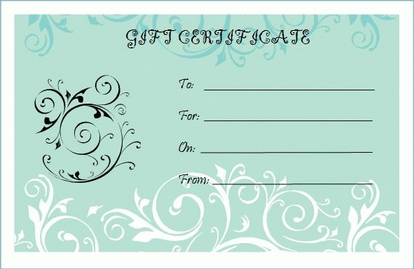 Blank Gift Certificate Template regarding Blank Gift Certificate Template Free Download 2547