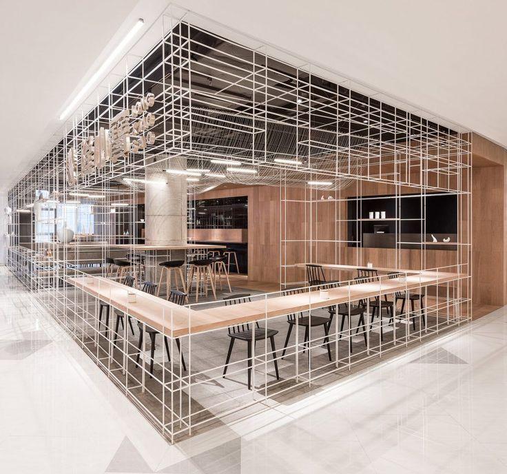 """线行间:""""隆小宝""""面条餐厅,上海 / 芝作室 - 谷德设计网"""